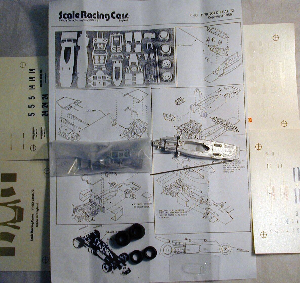 1 43 SRC11K 1970 or Leaf Team Lotus 72 Kit by SMTS