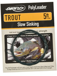 Airflo-Fly-Fishing-Trout-Fly-Fishing-Polyleaders-5ft-1-5m-Various-styles