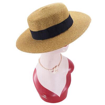 Natural Retro Gitter Women Girl Flat Top Panama Boater Dress Beach Sun Hat T241