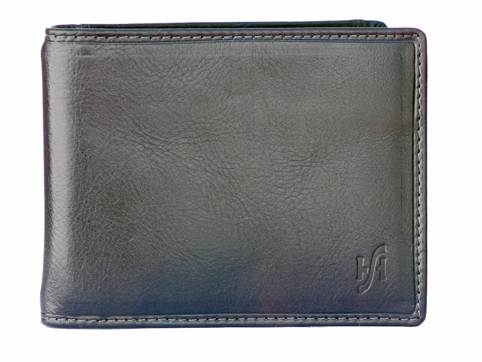 Mens RFID Bifold Money Clip Card Wallet Black