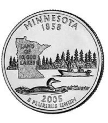 D  Minnesota    State Quarter  **BRILLIANT UNCIRCULATED** 2005