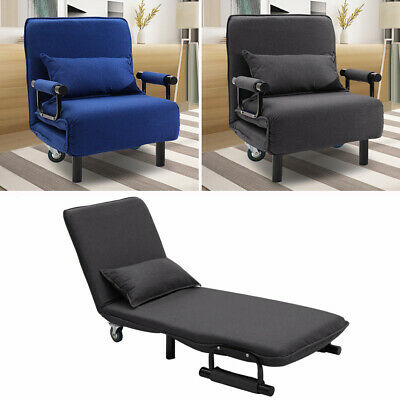 Swell Upholstered Recliner Chair Bedroom Single Sofa Bed Folding Lounge With Pillow Uk Ebay Gmtry Best Dining Table And Chair Ideas Images Gmtryco