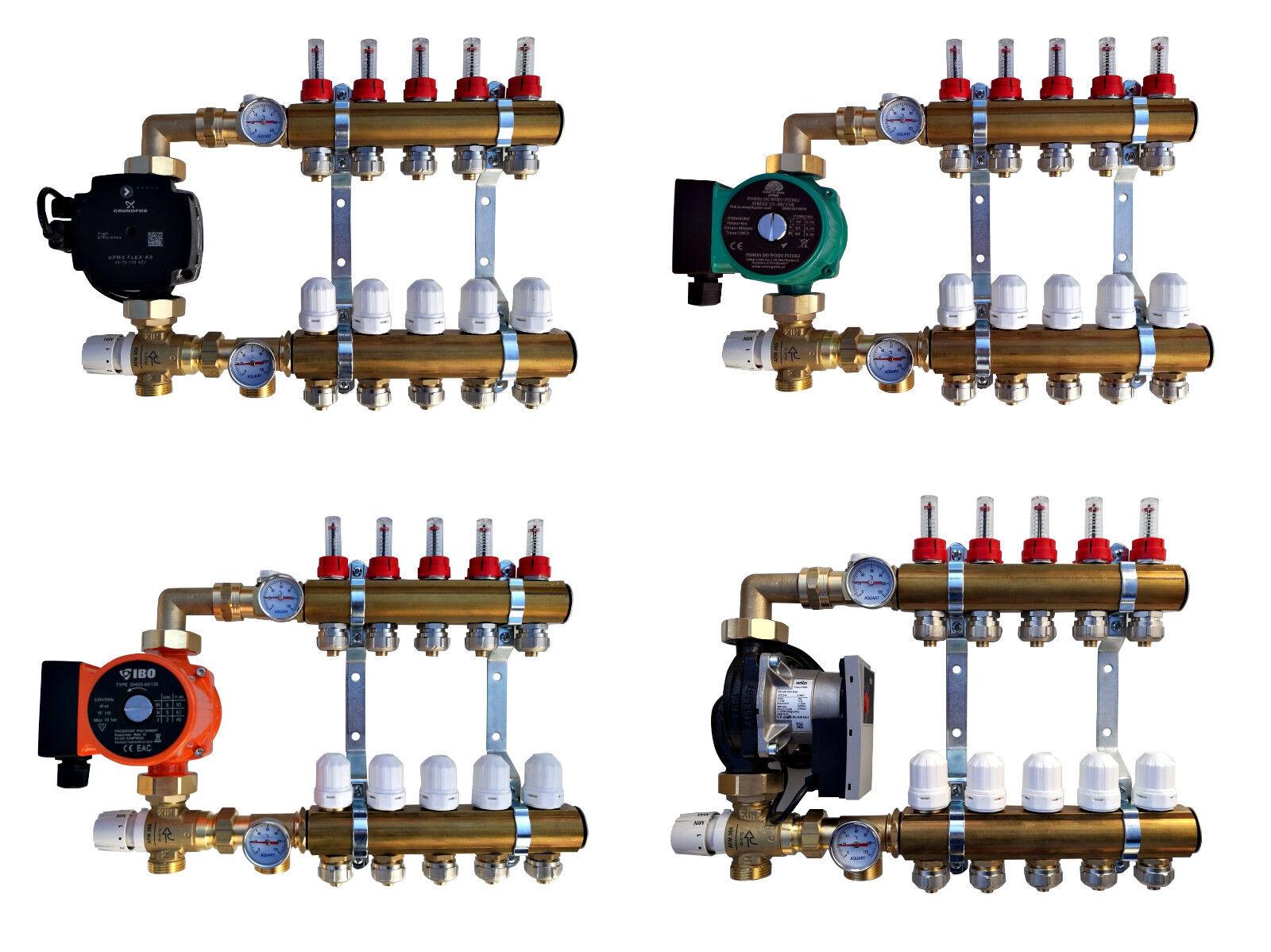 Pumpengruppe / Festwertregelset für Fußbodenheizung aus Heizkreisverteiler Heizkreisverteiler Heizkreisverteiler 2-12 0969b1