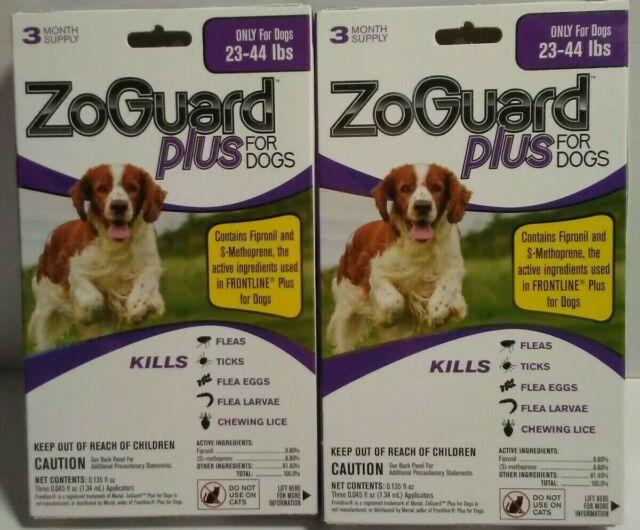 Promika ZoGuard Plus  6 Month Supply For Dogs 23-44 Lbs Kills Fleas Ticks & Lice