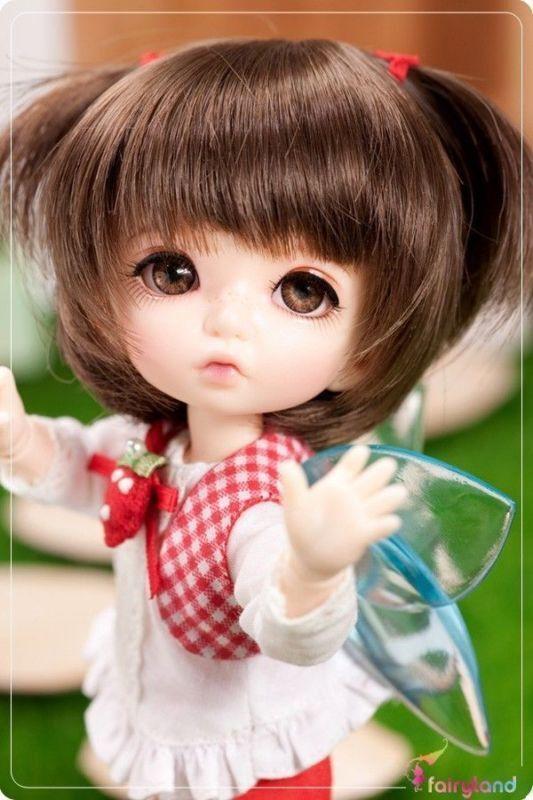 1 8 muñeca de BJD SD PFW-03 Marrón para pukifee Gratis Cara Maquillaje Ojos +