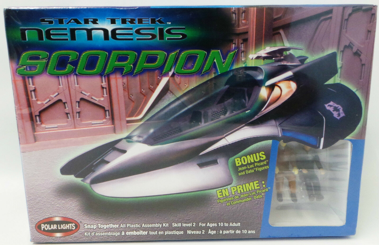 STAR TREK   NEMESIS   SCORPION MODEL KIT MADE BY POLAR LIGHTS IN 2005 (MH)