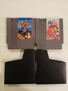 Nintendo NES Double Dribble & MAGIC JOHNSON FAST BREAK Video Game Cartridge