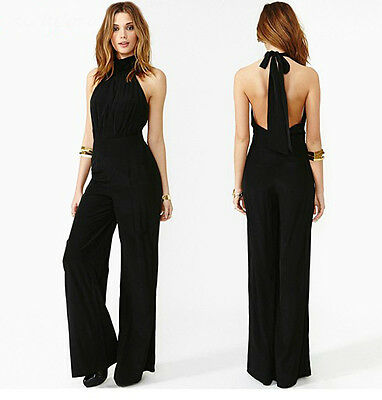2015 Sexy Women Lady Chiffon Casual Sleeveless Jumpsuit Halter Neck Romper zxcvn