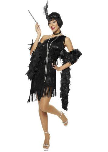 Teens Teen 20s 1920s Black Yellow Costume Gatsby Girls Flapper Party Fancy Dress