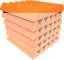 Orange-Acoustic-Foam-48-Pack-12x12x2-Wedge-Professional-Studio-Soundproofing thumbnail 3