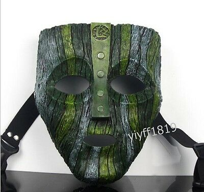 NEW!New Resin Loki Mask Jim Carrey The God of Mischief Movie Replica Props