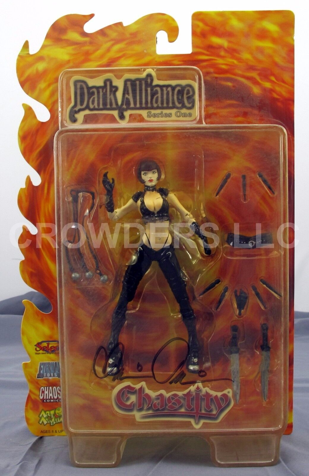 Dark Alliance Series 1 CHASTITY Action Figure Autographed Brian Pulido NIP '01