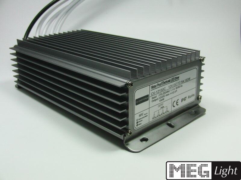 LED LED LED Trasformatore ALIMENTATORE 150w per 12v dc lampade a LED fino a 12,5a a 230v ac - ip67 341f94
