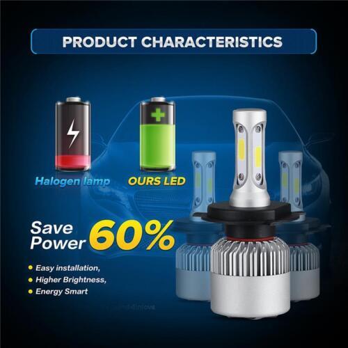 COB H4 9003 HB2 LED Bulb Bi-Xenon Hi//Lo Headlight Turbo Car Bulb Light Kit 6500K