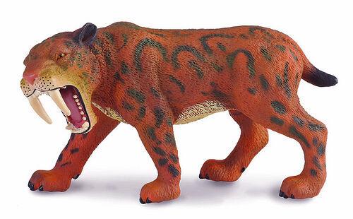 CollectA 88303 Smilodon Prehistoric Dinosaur Sabre Tooth Tiger Replica Toy NIP