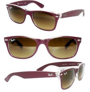 Ray-Ban-2132-gafas-de-sol-marron-claro-6054-New-Wayfarer-senora-caballero-RB-2140-estuche