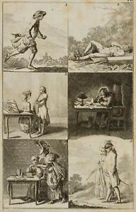 Chodowiecki (1726-1801). illustrazione di un latino manuale; pressione grafico