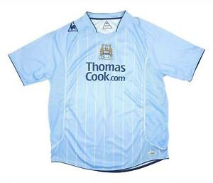 Manchester City 2007-08 Autêntica camisa Em Casa (muito bom) Camisa De Futebol Xxl
