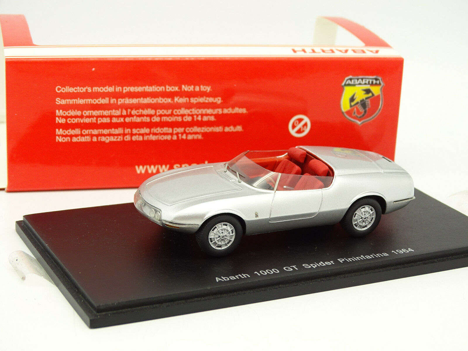Spark 1 43 - Abarth 1000 GT Spinne Pininfarina 1964 silver
