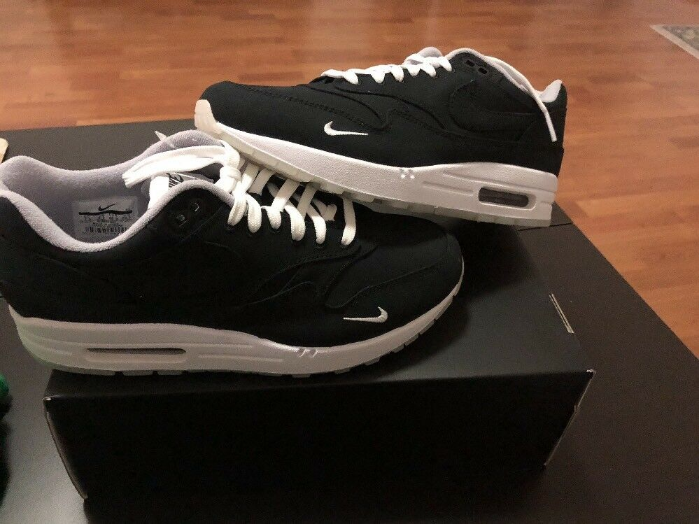 Nike Air Max 1 / DSM Size 6.5 Black/Black-White-Wolf Grey New With Box