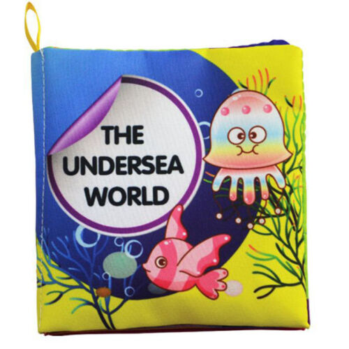 Soft Cloth Book Baby Toy Early Learning Education Animals Fruit Book Infant Toys
