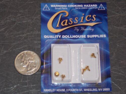 Dollhouse Miniature Hardware Brass Cabinet Door Knobs G71 1:12 Dollys Gallery