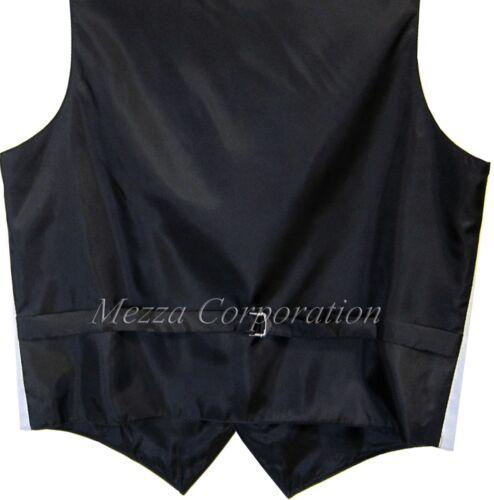 New Vesuvio Napoli Men/'s plaid Tuxedo Vest Waistcoat/_Self Tie Bowtie Brown