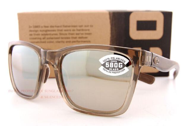 236577b45fd6e New Costa Del Mar Sunglasses PANGA Shiny Taupe Crystal copper Silver Mirror  580G