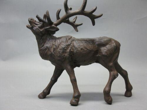 Hirsch aus Gusseisen 24 cm 1,5 Kg  Geweih Gusseisen Figur