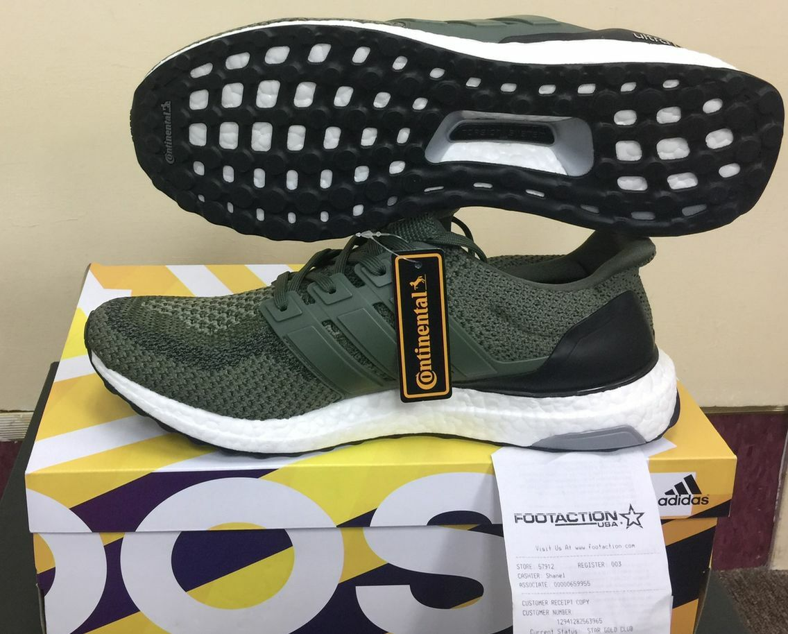 Adidas Ultra Boost M 2.0 Olive Green And Black BB6055 Merino Wool AUTHENTIC yeez