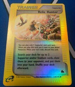 RELIC-HUNTER-120-144-Skyridge-REVERSE-HOLO-RH-E-series-Pokemon-card-NM-Mint