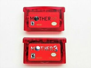 Mother-1-2-3-Cartridge-Set-English-GBA-Game-Boy-Earthbound-USA-Red