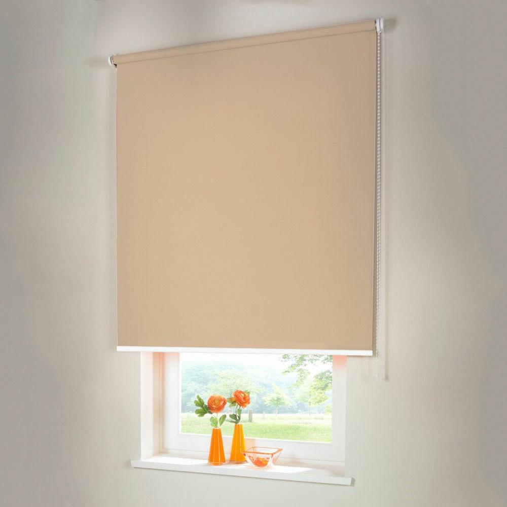 Persiana para oscurecer seitenzug kettenzug persiana-altura 160 cm beige-Caramelo