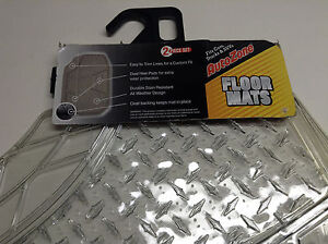 Details About Autozone 844 00 Clear 2 Piece Set Of Floor Mats For Cars Trucks Suvs