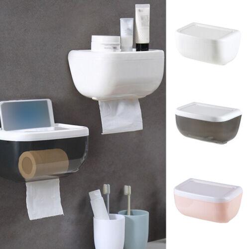 Toilet Tissue Kitchen Paper Dispenser Holder Storage Rack Wall Mounted Box FKI