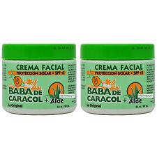 """Baba De Caracol Aloe Facial Cream 3.5 Oz. Crema Facial SPF 15 """"Pack of 2"""""""