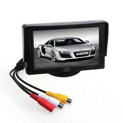 """New For DVD GPS Reverse Backup Camera Car 4.3"""" TFT LCD Color Rearview Monitor"""