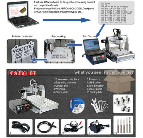 4 Axis USB MACH3 6040Z 2200W Desktop Engraver Cutting Milling Machine CNC Router