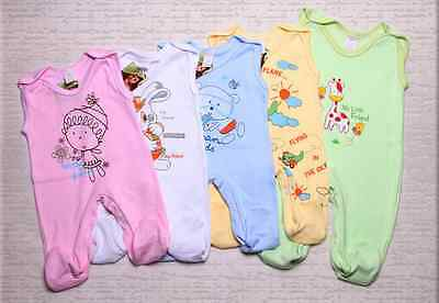 Strampler Babystrampler Baby Strampleranzug Gr. 56 62 68 74 NEU Baumwolle