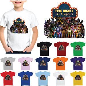 Cinq-Nights-at-Freddy-039-s-enfants-joueurs-Enfants-Garcons-Filles-T-Shirt-FNAF-101
