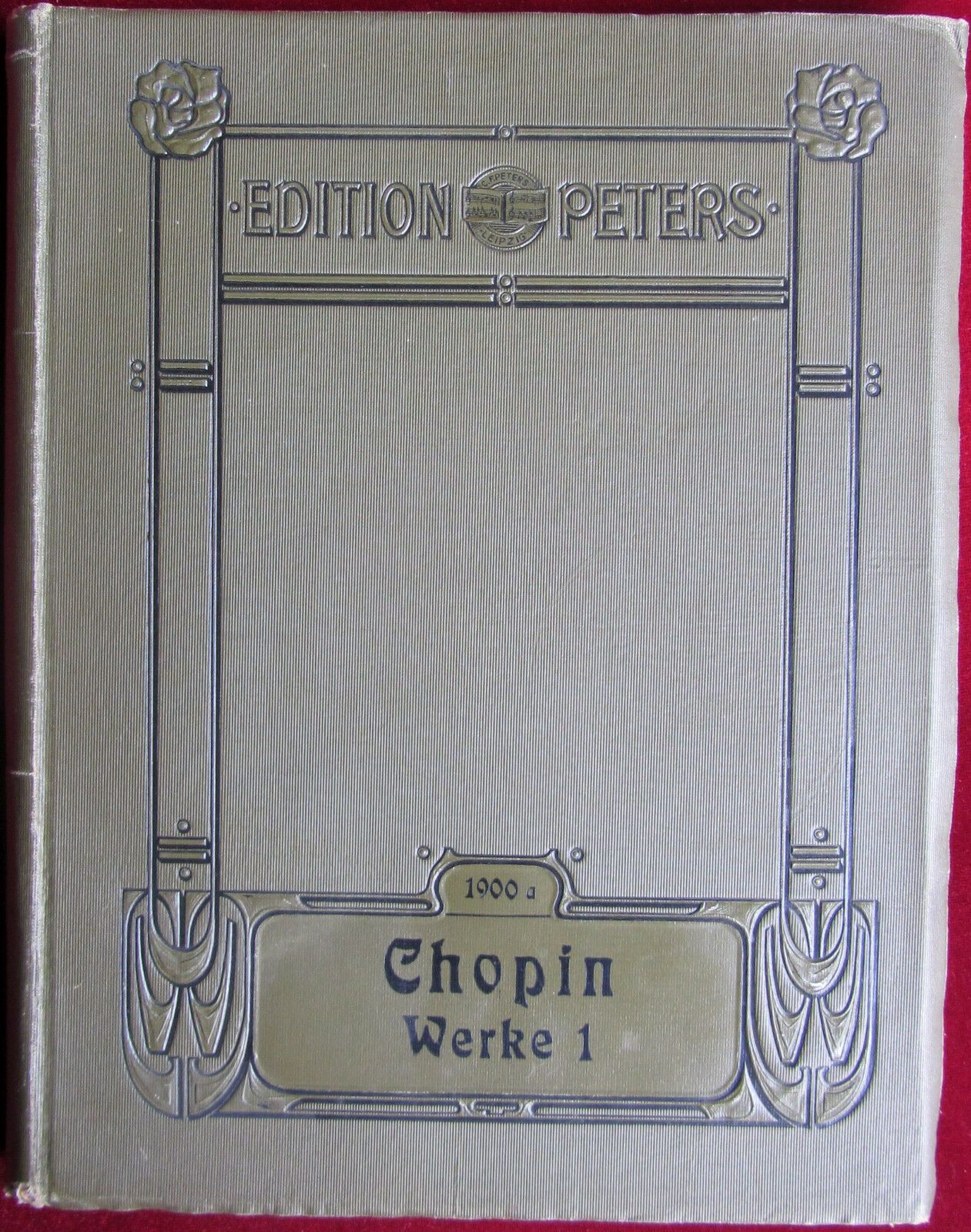Edition Peters 1900a: Chopin. Werke 1