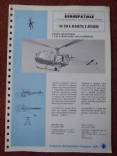 1971 DOCUMENT AERONAUTIQUE AEROSPATIALE HELICOPTERE SA.318 C ALOUETTE 2 ASTAZOU