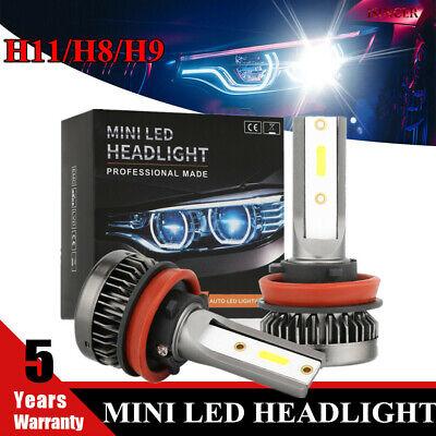 LED Headlight Bulbs,H11 H8 H9 Mini Conversion Kit,6000K White Lifetime Warranty