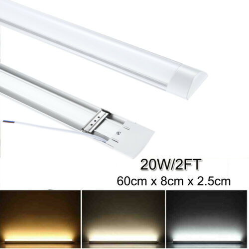 UK 2FT//3FT//4FT Slim LED Batten Linear Tube Light  Tri-Proof Surface Mount Lights