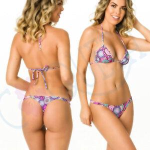 9080d39775a COQUETA Women's TEENY SET bikini itsy THONG BOTTOM + Top Push-Up ...