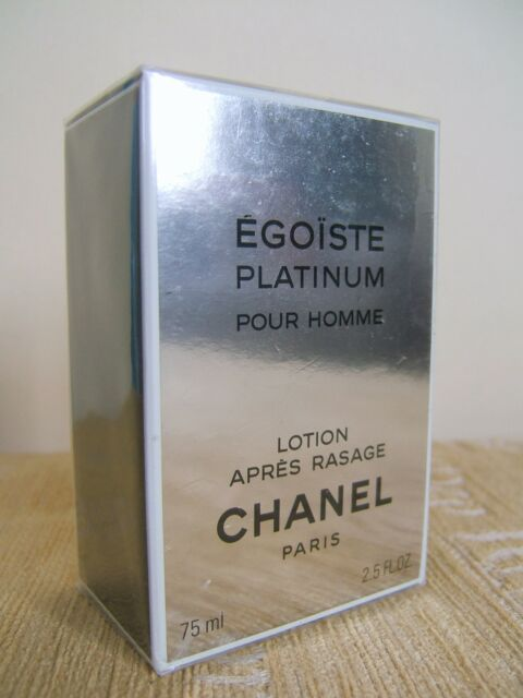 CHANEL EGOISTE PLATINUM POUR HOMME 75ML AFTER SHAVE LOTION - NEW   SEALED efa560721973