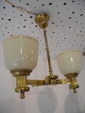 Antik Art Deco Deckenlampe Lampe old hanging lamp 20er 30er Brass Messing