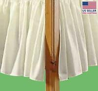 Dust Ruffle White Cotton/polyester Twin Size   Renovator's Supply on Sale