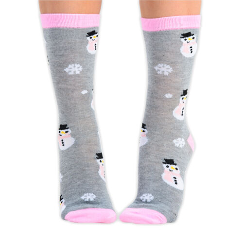 1 Pair of Ladies Cute Christmas Socks Santa Rudolph Snowflakes Snowman UK 4-6.5