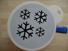 Laser cut snowflake ice pattern design coffee and craft stencil
